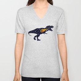 Dinosaur and meteorite strike #society6 #decor #buyart #artprint Unisex V-Neck
