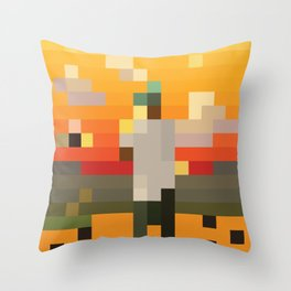 Scum Pixel Flower Boy Throw Pillow