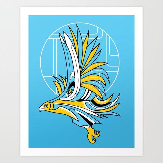 Hawk Deco Art Print