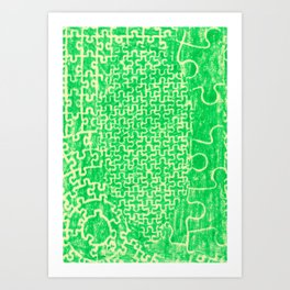 Life is a puzzle 10 Art Print