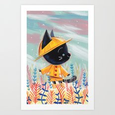 Raincoat 1 Art Print