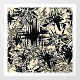 White Chaos Art Print