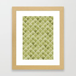 Green Snakeskin-ish Tessallation Framed Art Print