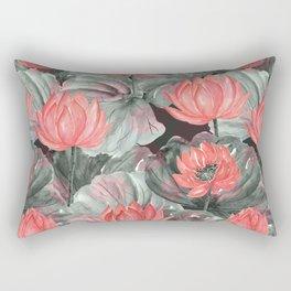 Water Lily .2 Rectangular Pillow