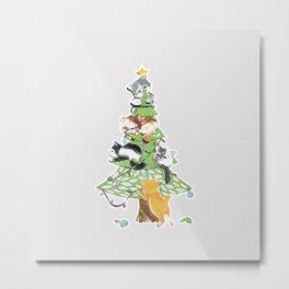 Christmas Kittens Metal Print