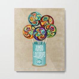 Colorful Kaleidoscope Lollipops Metal Print