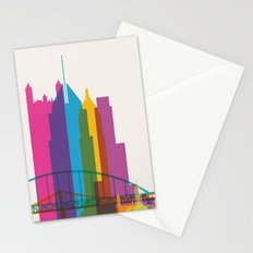Shapes of Pittsburgh. Accurate to scale Stationery Cards