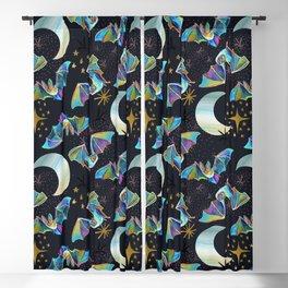 Bloodsucker Buffet Creepy Cute Bat and Mosquito Pattern Blackout Curtain
