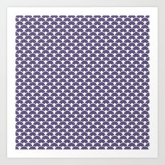 Dragon Scales Deep purple Art Print
