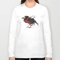 tapestry Long Sleeve T-shirts featuring Tapestry Rook by Nick Sadek Illustration
