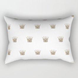 Vintage Crown Pattern Rectangular Pillow