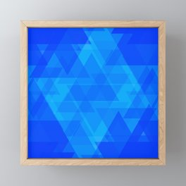 Bright blue and celestial triangles in the intersection and overlay. Framed Mini Art Print