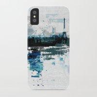 skyline iPhone & iPod Cases featuring Skyline by girardin27