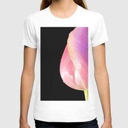 Tulip Half on Black T-shirt