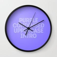 MetaType Purple Wall Clock