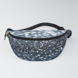Midnight Navy Blue Glitter #1 #shiny #decor #art #society6 Fanny Pack
