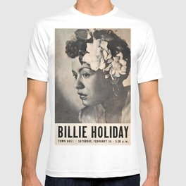 1946 Billie Holiday New York City Town Hall Concert Concert Poster T-shirt