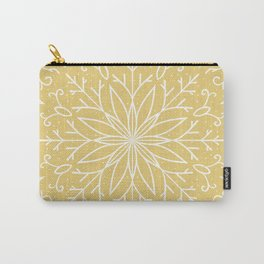 Single Snowflake - Yellow Carry-All Pouch