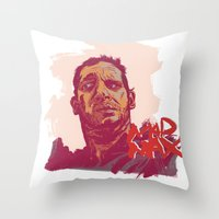 mad max Throw Pillows featuring Mad Max by Andy Christofi