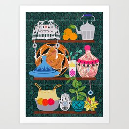 Moroccan shelf Art Print