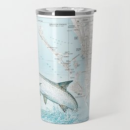"Sarasota Florida ""Tarpon"" Area road map Travel Mug"