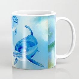 Floating Free - Dolphins Coffee Mug