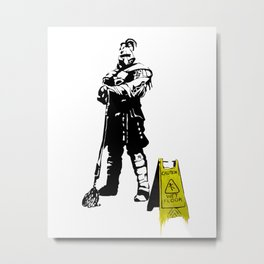 Every day heroes - Mop Champion Metal Print