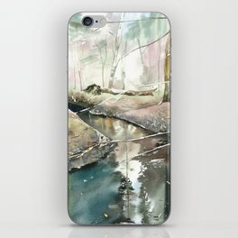 spring forest iPhone Skin