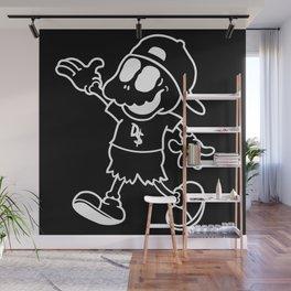 "Bat Boy ""Walking"" Pillow (Black) Wall Mural"