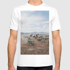 Running Horses LARGE Mens Fitted Tee White