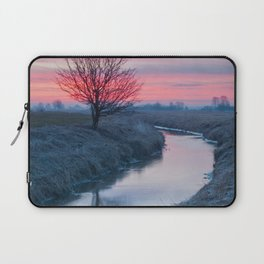 Colorful Sunrise On The River Laptop Sleeve