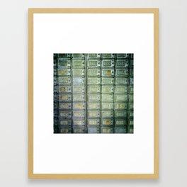 PO boxes Framed Art Print