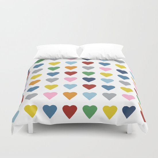 64 Hearts Duvet Cover