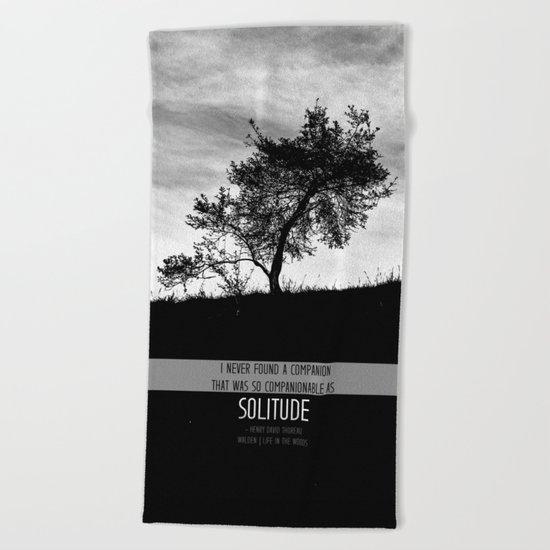 Henry David Thoreau - Solitude Beach Towel