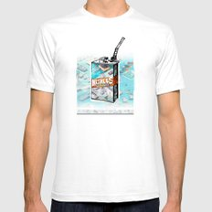 NITROUS OXIDE Mens Fitted Tee White SMALL