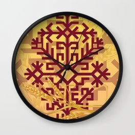 Latvian folk sign Austras koks Wall Clock
