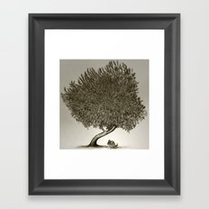 I'll be right here Framed Art Print