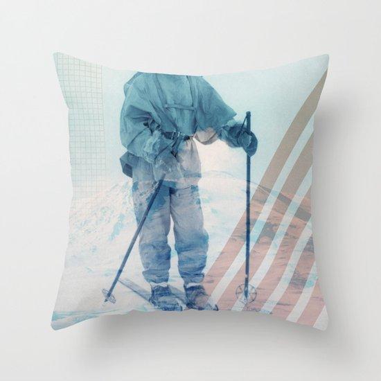 Husky Exploration Throw Pillow