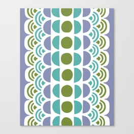 turquoise circles Canvas Print