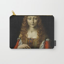 GIRL WITH CHERRIES, by Ambrogio de Predis, 1491_95 Carry-All Pouch