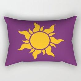 Tangled Rapunzel Sun Logo - Corona Symbol Rectangular Pillow