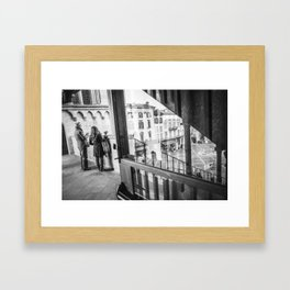 Like the mirror Framed Art Print