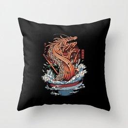 Ramen Dragon Throw Pillow