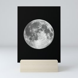 Full Moon print black-white photograph new lunar eclipse poster bedroom home wall decor Mini Art Print