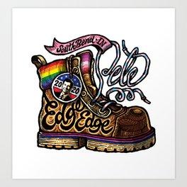 LGBTQ Pride-Themed | Pete Buttigieg | Boot Edge Edge Art Print