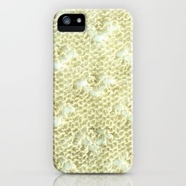Lace knitting detail iPhone Case