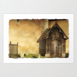 Old Church Door Art Print