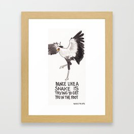 Bird no. 321: How to Dance Framed Art Print