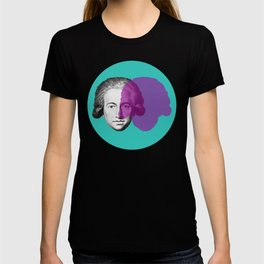 Goethe - teal and purple portrait T-shirt