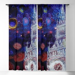 Starry Night in London Blackout Curtain